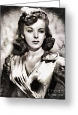 Ida Lupino, Vintage Actress Greeting Card