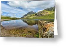 Idwal Lake Snowdonia Greeting Card by Adrian Evans