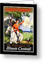 Illinois Mississippi Restored Vintage Poster Greeting Card