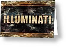 Illuminati Pop Art By Mary Bassett Greeting Card