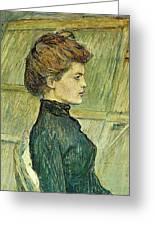 img296 Henri De Toulouse-Lautrec Greeting Card