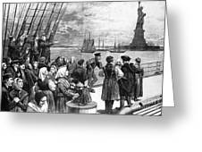 Immigrants On Ship, 1887 Greeting Card