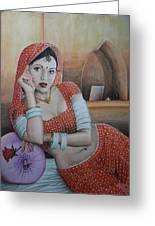 Indian Rajasthani Woman Greeting Card