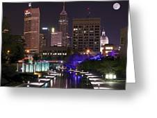 Indianapolis Canal View Greeting Card