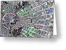 Inside Orbital City Greeting Card
