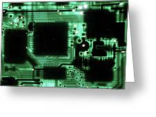 Integrated Circuit Board From A Computer Greeting Card