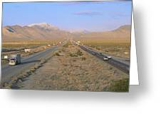 Interstate 15, Near Las Vegas, After Greeting Card