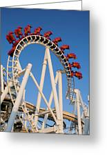 Inverted Roller Coaster Greeting Card