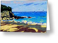 Island Coast Greeting Card