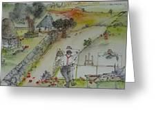 Italian  Landscape Scroll Greeting Card