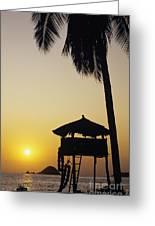 Ixtapa Sunset Greeting Card