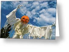 Jack-o-lantern Man Greeting Card