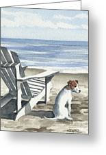 Jack Russel Terrier At The Beach Greeting Card