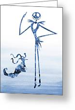 Jack With Zero-blue Greeting Card