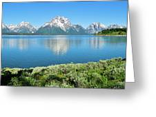 Jackson Lake Teton Panorama Greeting Card