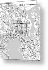 Jacksonville Florida Usa Light Map Greeting Card