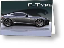 Jaguar F Type Greeting Card