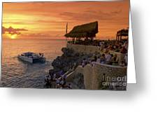 Jamaica Negril Ricks Cafe Greeting Card