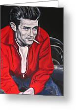 James Dean Put His Picture In A Picture Show Greeting Card by Eric Dee
