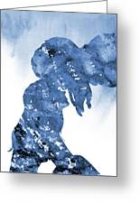 Jane And Tarzan-blue Greeting Card