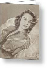 Janet Leigh, Vintage Actress Greeting Card