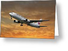 Japan Airlines Boeing 767-346 Greeting Card