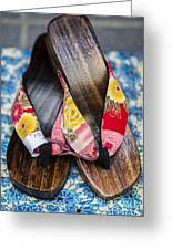 Japanese Sandals Greeting Card