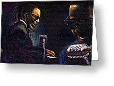 Jazz Ray Charles Greeting Card