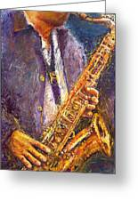 Jazz Saxophonist Greeting Card