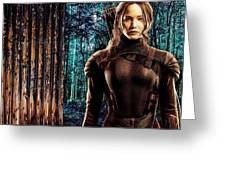 Jennifer Lawrence Collection Greeting Card