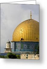 Jerusalem Dome Of The Rock  Greeting Card