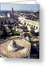 Jerusalem From The Tower Of David Museum Greeting Card