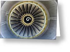 Jet Engine Detail. Greeting Card by Fernando Barozza