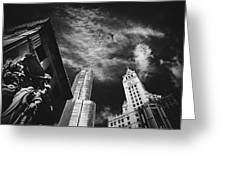 Jet Over Michigan Avenue Greeting Card