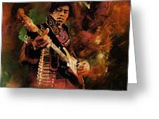 Jimi Hendrix 01 Greeting Card