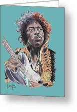 Jimi Hendrix 1 Greeting Card