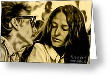 Joan Baez With Bob Dylan Greeting Card