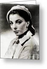 Joan Collins, Actress Greeting Card