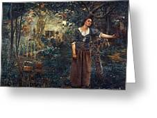 Joan Of Arc C1412-1431 Greeting Card