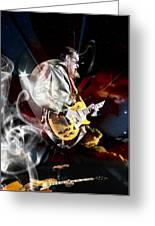Joe Bonamassa Blue Guitarist Art Greeting Card