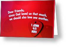 1 John Bible Verse Greeting Card