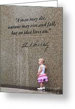 John F. Kennedy Memorial Greeting Card