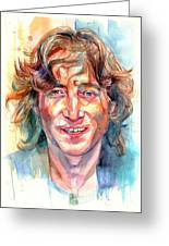 John Lennon Portrait Greeting Card