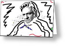 Johnny Cash Man In White Literary Homage Old Tucson Arizona 1971-2008 Greeting Card