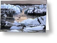 Jokulsarlon Glacier Lagoon Iceland 2050 Greeting Card