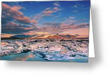 Jokulsarlon Glacier Lake - Iceland Greeting Card