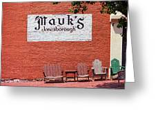 Jonesborough Tennessee Mauk's Store Greeting Card