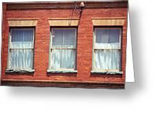Jonesborough Tennessee Three Windows Greeting Card