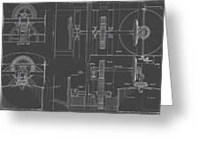 Jonval Turbines - Fairmount Waterworks - Philadelphia, Pa - Circa 1812 Greeting Card
