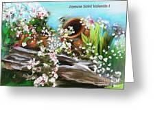Joyeuse Saint Valentin  Greeting Card